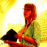 A photo of Joanne reading at the Bright Hill Literary Center